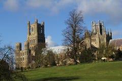 Domkyrka i Ely Cambridgeshire Fotografering för Bildbyråer