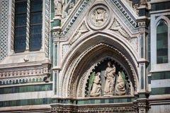Domkyrka i Florence, Tuscany, Italien Royaltyfri Foto