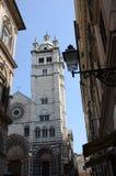 Domkyrka i Genua - Genoa Landmarks arkivfoto
