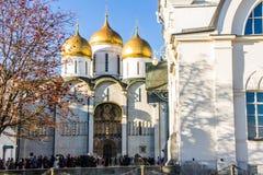 Domkyrka i Kreml, Moskva Arkivfoto