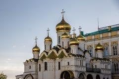 Domkyrka i Kreml, Moskva Arkivbild
