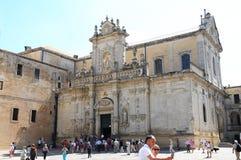 Domkyrka i Lecce Arkivbilder