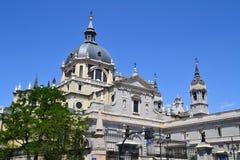 Domkyrka i Madrid, Spanien Fotografering för Bildbyråer