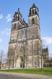 Domkyrka i Magdeburg, Tyskland Arkivbilder