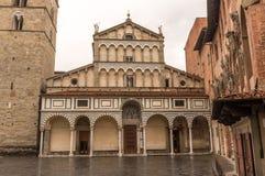 Domkyrka i Pistoia, Italien Arkivbilder