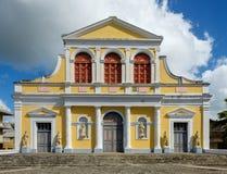 Domkyrka i Pointe-A-Pitre - Guadeloupe Arkivbilder