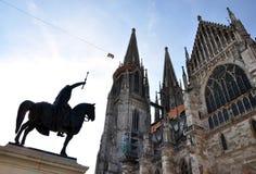 Domkyrka i Regensburg, Tyskland, Europa Royaltyfria Foton
