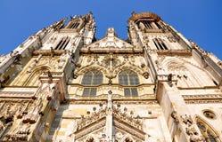 Domkyrka i Regensburg, Tyskland, Europa Arkivbild