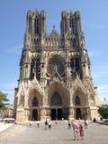 Domkyrka i staden av Reims Frankrike Arkivfoton