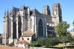Domkyrka i Toul, Lorraine, Frankrike Arkivbilder