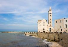 Domkyrka i Trani, Apulia, Italien Arkivbild