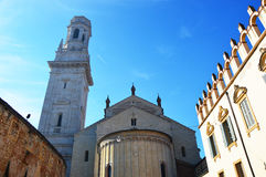 Domkyrka i Verona, Italien Fotografering för Bildbyråer