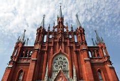domkyrka katolska moscow roman russia Royaltyfria Foton