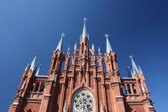domkyrka katolska moscow roman russia Royaltyfria Bilder