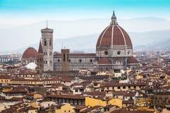 Domkyrka kyrkliga Santa Maria del Fiore på sommardagen, Florence, Italien Arkivfoto