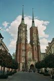 Domkyrka kyrkliga wroclaw Polen Arkivfoton