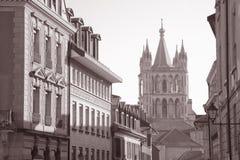 Domkyrka Lausanne Royaltyfria Bilder