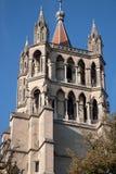 Domkyrka; Lausanne Fotografering för Bildbyråer
