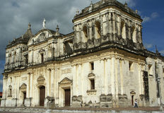 Domkyrka Leon, Nicaragua royaltyfri fotografi
