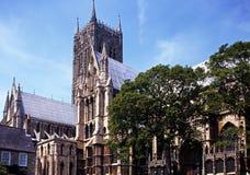 Domkyrka Lincoln, England. Royaltyfria Bilder