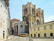 domkyrka lisbon portugal Arkivbild