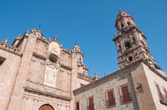 domkyrka mexico michoacan morelia Royaltyfri Fotografi