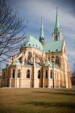 domkyrka neogothic lodz Royaltyfri Bild