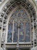 Domkyrka Notre-Dame i Lausanne i Schweiz Arkivbilder