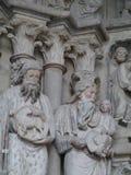 Domkyrka Notre-Dame i Lausanne i Schweiz Arkivfoto