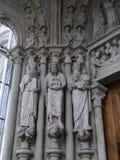 Domkyrka Notre-Dame i Lausanne i Schweiz Royaltyfri Fotografi