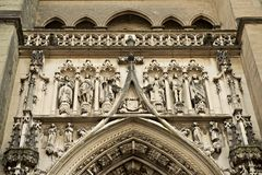 Domkyrka Notre Dame i Lausanne, Schweitz Royaltyfri Fotografi