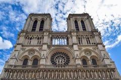 Domkyrka Notre Dame i Paris Arkivbild