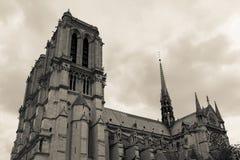 Domkyrka Notre Dame i Paris Frankrike Royaltyfria Bilder