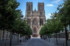 Domkyrka Notre Dame i Reims royaltyfria bilder