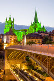 Domkyrka Notre Dame Of Lausanne Royaltyfri Foto