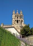 Domkyrka Notre Dame, Lausanne i Schweitz Arkivfoto