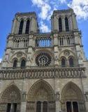 Domkyrka Notre Dame Paris, Frankrike arkivfoton