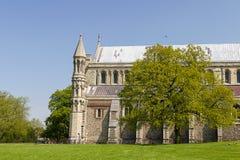 Domkyrka och Abbey Church av helgonet Alban i St Albans, UK Arkivbilder