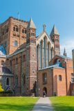 Domkyrka och Abbey Church av helgonet Alban i StAlbans England u Arkivbilder