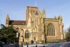 Domkyrka och Abbey Church av helgonet Alban, UK Arkivfoton