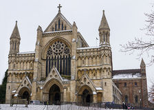 Domkyrka och Abbey Church av helgonet Alban, UK Royaltyfri Foto
