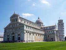 Domkyrka och lutande torn, Pisa, Italien Arkivbilder