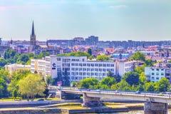 Domkyrka och Novi Sad Arkivfoto