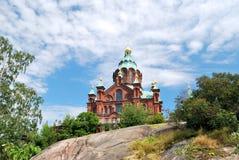 domkyrka ortodoxa helsinki Arkivbilder