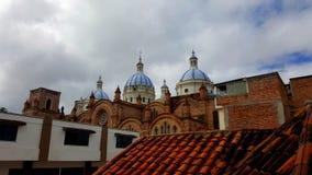 Domkyrka på Cuenca Ecuador Arkivbilder