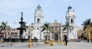 Domkyrka på Plaza de Armas Royaltyfri Bild