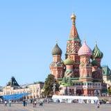 Domkyrka på röd fyrkant av MoskvaKreml Arkivbild