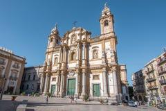 Domkyrka Palermo, Italien Arkivfoto