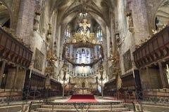 Domkyrka Palma de Majorca, Spanien Arkivfoto