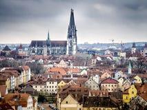 Domkyrka Regensburg Royaltyfria Foton